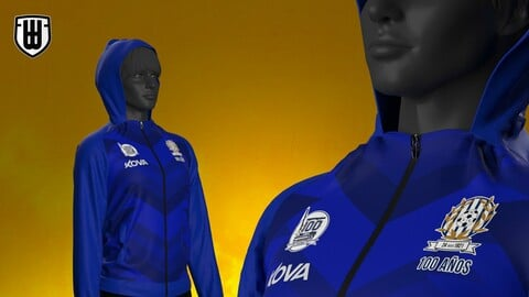 Tracksuit + Sports pants model for MARVELOUS and Clo3d