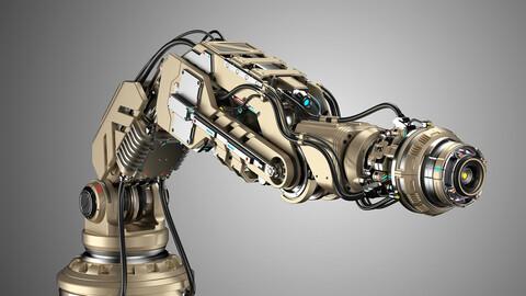 Sci - Fi Robotic Arm 2b - Rigged 3d Model