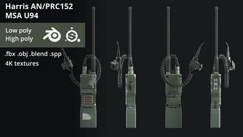 PRC 152 military radio with U94 PTT