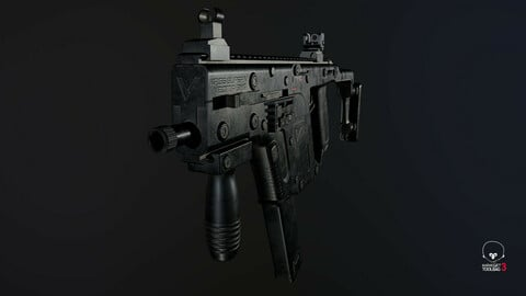 Kriss Vector PBR Low-Poly Game Ready