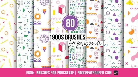 1980s memphis pattern brushes
