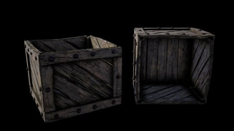 Medieval Fantasy Prop 03 - Old box - UE, Unity, Cry Engine, 3Ds Max, Cinema 4D, Maya and more