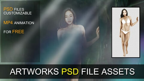 PSD SOURCES for CUSTOMIZATION - Girl in Forest