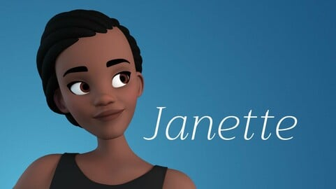 Janette stylised female character