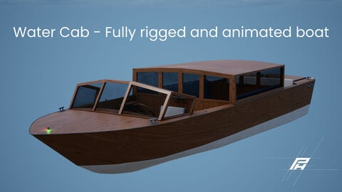 Water Cab - Fully Rigged and Animated Model