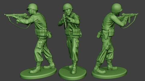 American soldier ww2 Shoot Stand2 A12