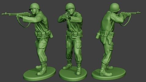 American soldier ww2 Shoot Stand3 A12