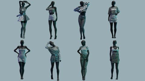 Collection Of Clothes . Clo3D , Marvelous Designer .