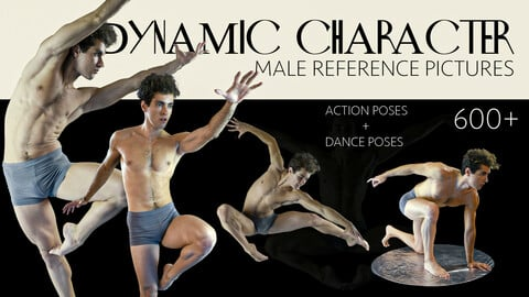 600 + DYNAMIC CHARACTER MALE REFERENCE PICTURES [Action Poses + Dance Poses]
