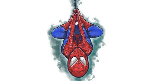 Cute Watercolour Spiderman.