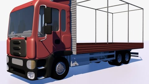 Truck with sides and stands