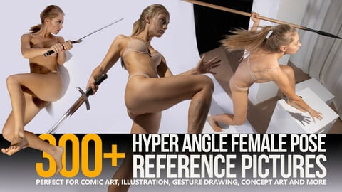 300+ Hyper Angle Female Pose Reference Pictures