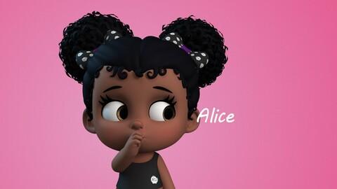 Alice stylised girl character