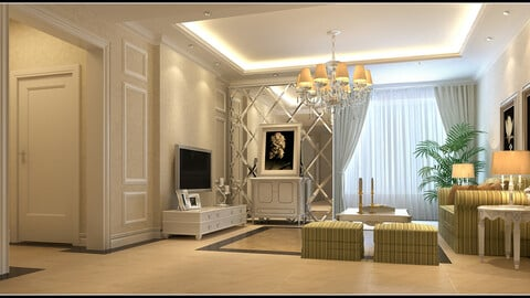 The style simple and simple Europe type living room 1709