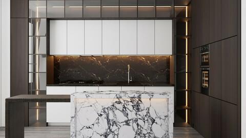 modern kitchen with island 006