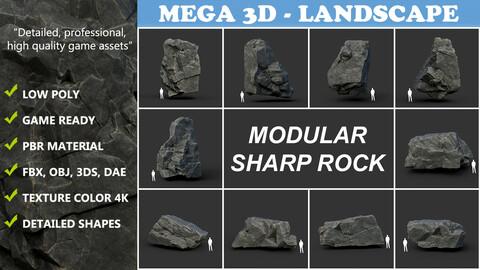 Low poly Sharp Rock Modular 210811
