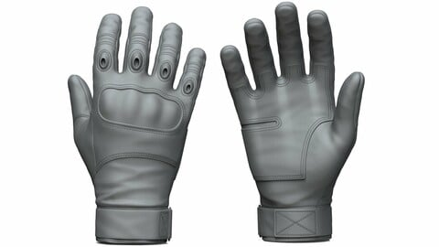 Military Tactical Gloves (ztl/obj files)