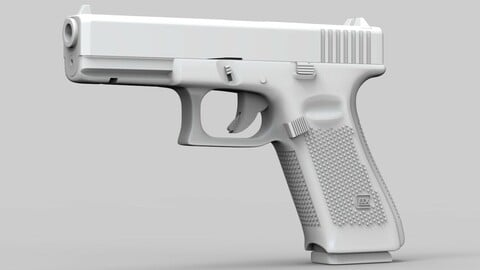 Pistol Glock 17 Gen 5 Low and High Poly (ztl/obj files)