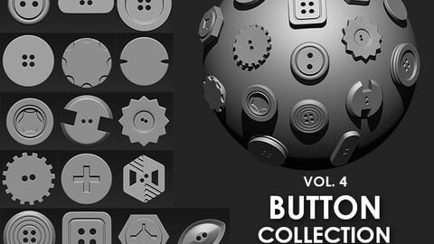 Buttons Collection IMM Brush Pack (16 in One) VOL. 4