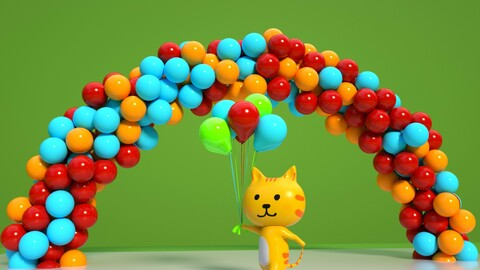 Cartoon cat scene domestic cat orange cat orange cat leopard cat