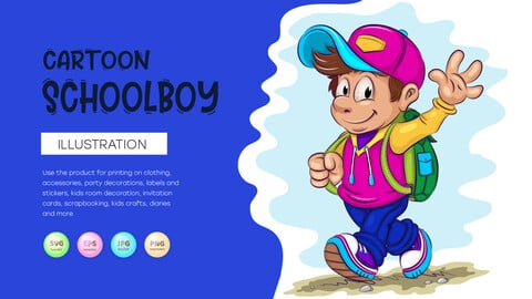 Cartoon schoolboy.