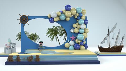 Summer summer creative shopping mall season Beauty Chen sculpture