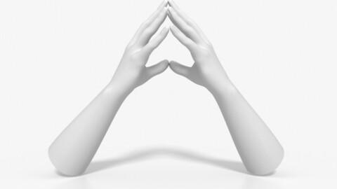 Hands close to think than heart hand cartoon gesture gesture finger finger