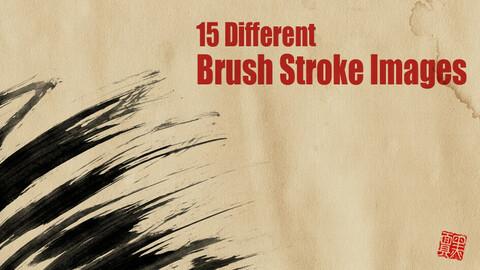 Japanese Ink Brush Strokes