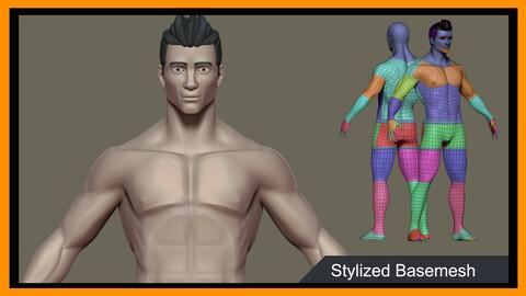 Stylized man Basemesh