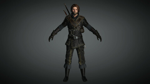 Fantasy Male Character 01