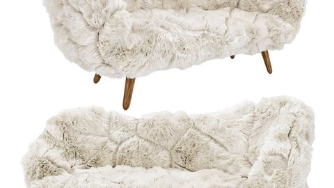 Campana Brothers Bolotas Sofa (White Fur)