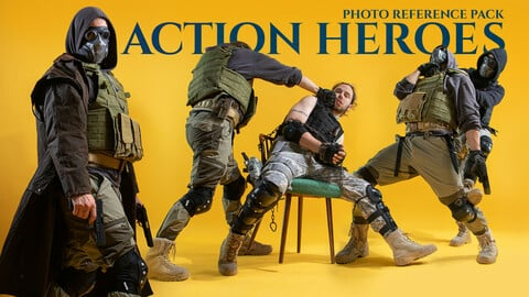 Action Heroes Photo Reference Pack for Artists 359 JPEGs