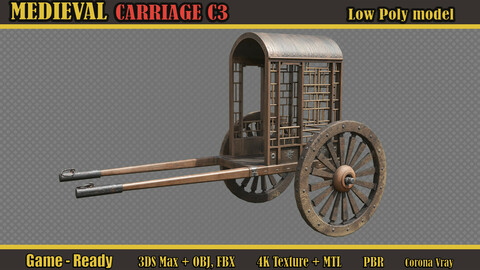 Medieval Carriage C3 (Lowpoly)