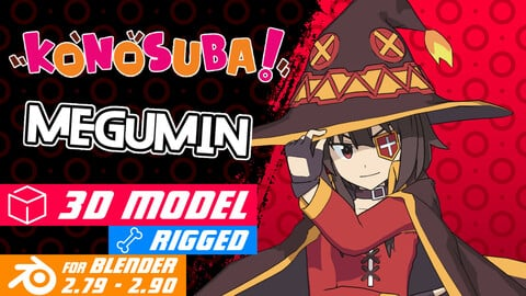 Megumin - Konosuba Anime Model 3D