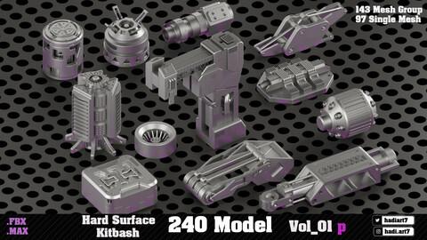 Hard Surface Kitbash 240 Model VOL01P