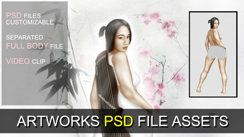 PSD SOURCES for CUSTOMIZATION - Bohemian Girl