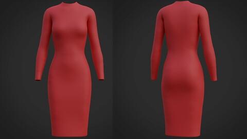 Female sleeve dress - 3D clothing