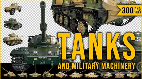 300 PNG Tanks & Military Machinery  Cutout Pictures
