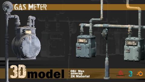 2 Game asset 3D model _ Gas Meter