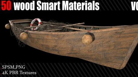 50 Wood Smart Materials + 4K PBR Textures Vol_3