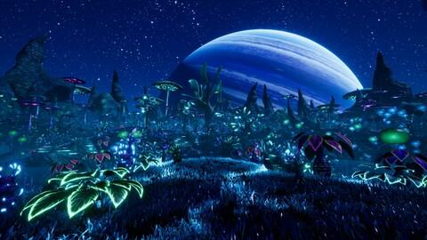 Alien Planet Fantasy Environment - Swamp Plants UE4