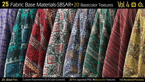 25 Fabric Materials-sbsar+20Basecolor Textures