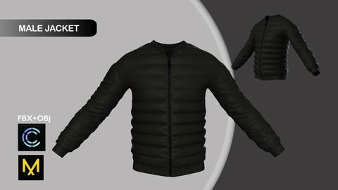 Male Jacket. Marvelous Designer/Clo3d project + OBJ + FBX