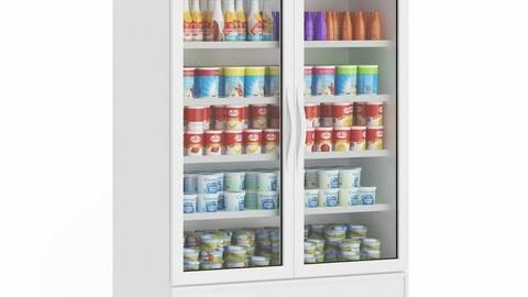 Supermarket shelf Store shelf Fruit and vegetable shelf convenience