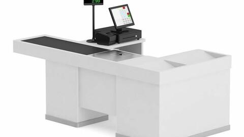 Supermarket cash register counter cash register calculator handheld