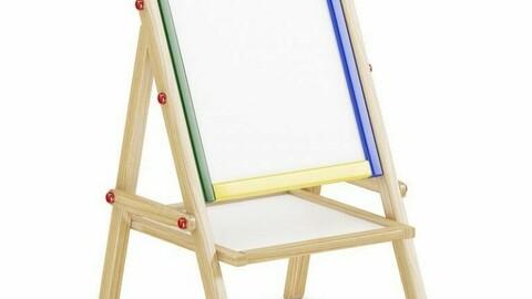 Easel canvas Brush paint palette Canvas Children's toy Model (12)