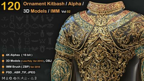 120  Ornament Kitbash / Alpha / 3D Models / IMM  vol 02