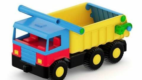 Toy truck realistic color toy car children's toy boy and girl toy