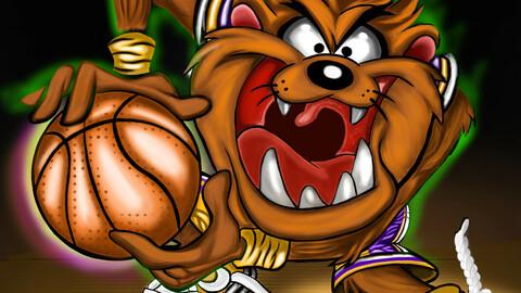 Looney tune tasmanian devil fans