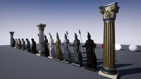 Greek & Roman Statues UE4 FBX 3DS